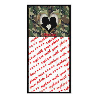 """Silhouette of a Couple Kissing """"I Miss You"""" Card"""