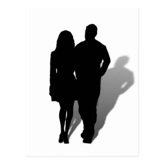 Silhouette of a Couple Postcard