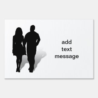 Silhouette of a Couple Signs