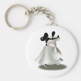Silhouette of a Dancing Couple Keychain