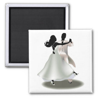Silhouette of a Dancing Couple Magnet