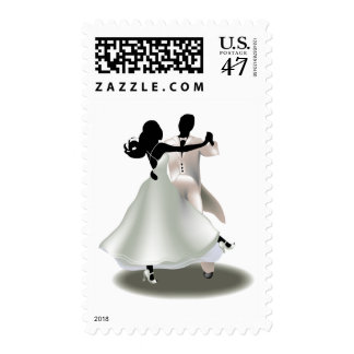 Silhouette of a Dancing Couple Postage