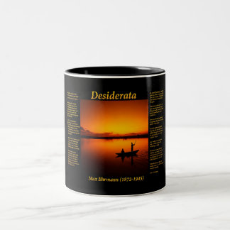 silhouette of a father and son fishing in yellow Two-Tone coffee mug