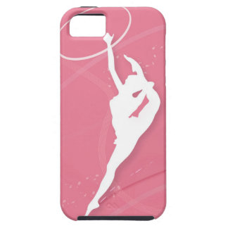 Silhouette of a female gymnast performing with a iPhone SE/5/5s case