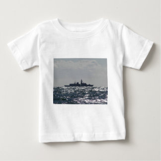 Silhouette Of A Frigate Baby T-Shirt
