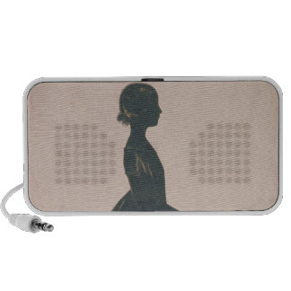 Silhouette of a girl with a skipping rope mini speaker