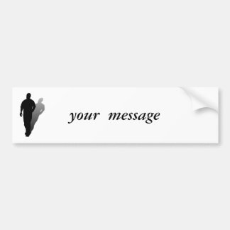Silhouette of a Man Bumper Sticker