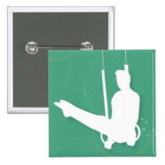 Silhouette of a man performing gymnastics button