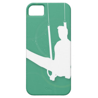 Silhouette of a man performing gymnastics iPhone SE/5/5s case