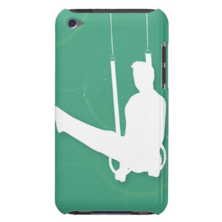 Silhouette of a man performing gymnastics iPod touch cover