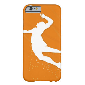 Silhouette of a man playing volleyball barely there iPhone 6 case