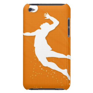 Silhouette of a man playing volleyball barely there iPod cover