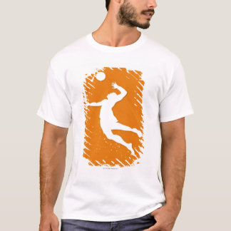 Silhouette of a man playing volleyball T-Shirt