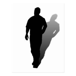 Silhouette of a Man Postcard