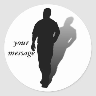 Silhouette of a Man Stickers