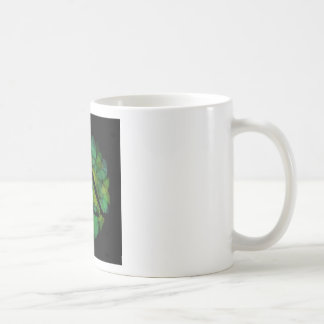 Silhouette of a meditating person coffee mug