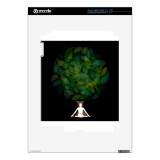Silhouette of a meditating person or a person iPad 2 skins