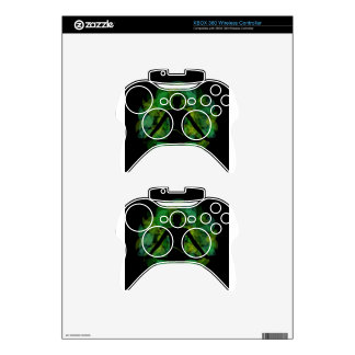 Silhouette of a meditating person xbox 360 controller skin