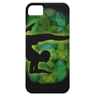Silhouette of a person doing gymnastics or yoga iPhone SE/5/5s case