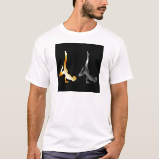 Silhouette of a person in advanced yoga pose T-Shirt