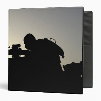 Silhouette of a Squad Automatic Weapon gunner Binder