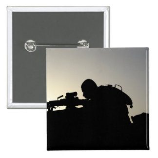 Silhouette of a Squad Automatic Weapon gunner Button
