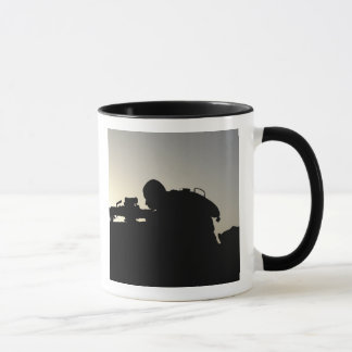 Silhouette of a Squad Automatic Weapon gunner Mug