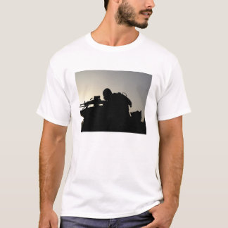 Silhouette of a Squad Automatic Weapon gunner T-Shirt
