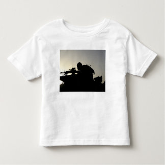 Silhouette of a Squad Automatic Weapon gunner Toddler T-shirt