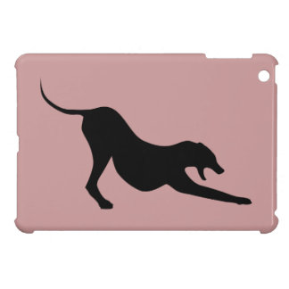 Silhouette of a Stretching Dog iPad Mini Covers