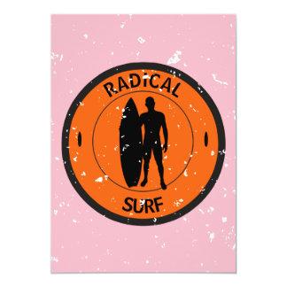 Silhouette ofa surferandsurfboard card