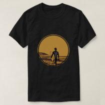Silhouette ofa surferandsurfboard T-Shirt