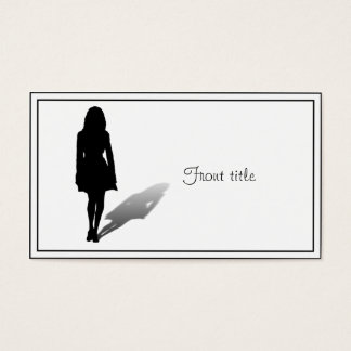 Silhouette of a Woman Business Card