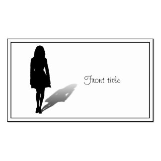 Silhouette of a Woman Business Card Templates