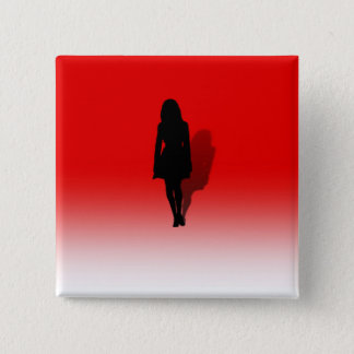 Silhouette of a Woman Button