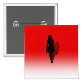 Silhouette of a Woman Pinback Button