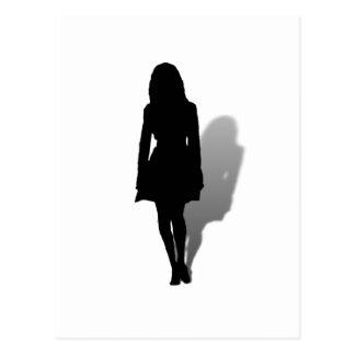 Silhouette of a Woman Postcard