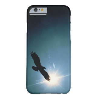 Silhouette of bald eagle flying in sky barely there iPhone 6 case