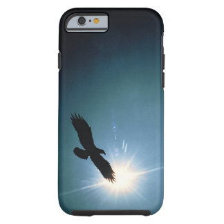 Silhouette of bald eagle flying in sky tough iPhone 6 case