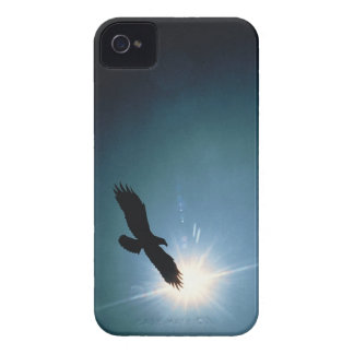 Silhouette of bald eagle flying in sky iPhone 4 covers