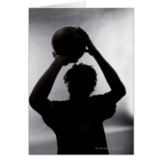 Silhouette of basketball player card