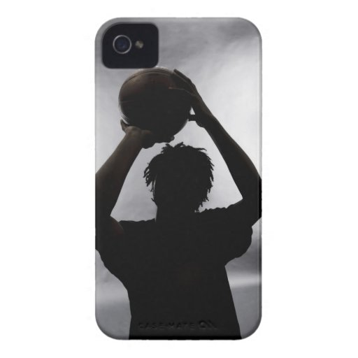 Silhouette of basketball player iPhone 4 Case-Mate case