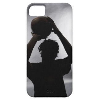 Silhouette of basketball player iPhone 5 case