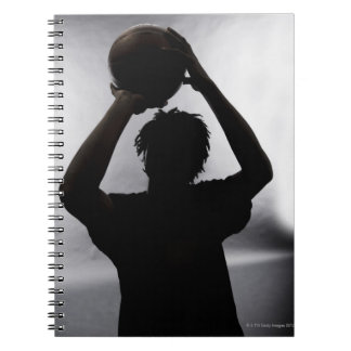 Silhouette of basketball player notebook