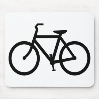 Silhouette of Bicycle Mouse Pad