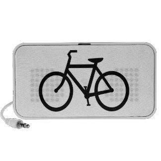 Silhouette of Bicycle Laptop Speaker