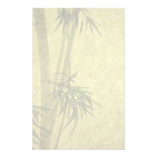 Silhouette of branches of a bamboo on paper