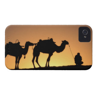 Silhouette of camel caravan on the desert at 2 Case-Mate iPhone 4 cases