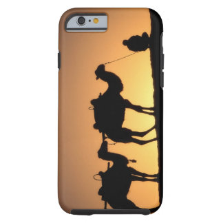 Silhouette of camel caravan on the desert at 2 iPhone 6 case