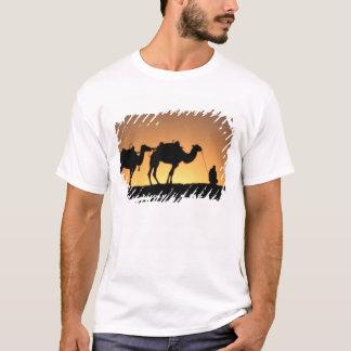 Silhouette of camel caravan on the desert at 2 T-Shirt
